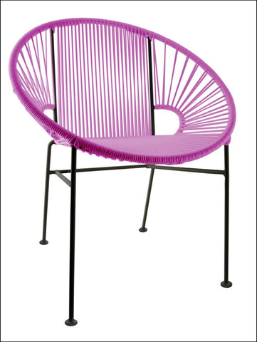 Innit Concha Chair Pink Weave On Black Frame