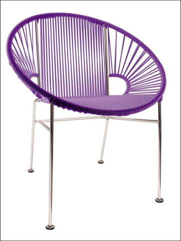 Innit Concha Chair Chrome Frame With Purple Weave