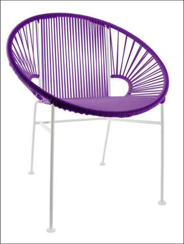 Innit Concha Chair White Frame With Purple Weave