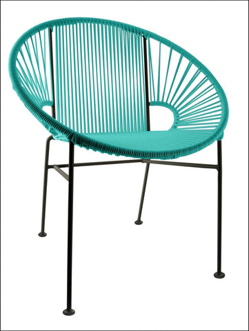Innit Concha Chair Turquoise Weave On Black Frame