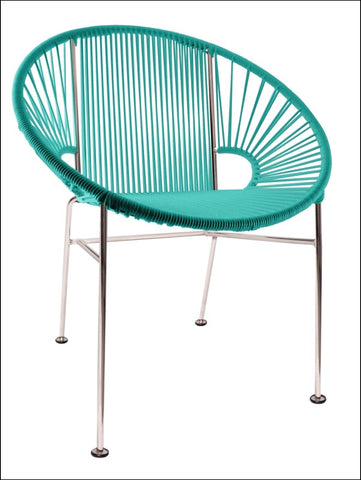 Innit Concha Chair Chrome Frame With Turquoise Weave