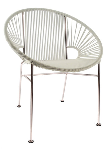Innit Concha Chair Chrome Frame With White Weave