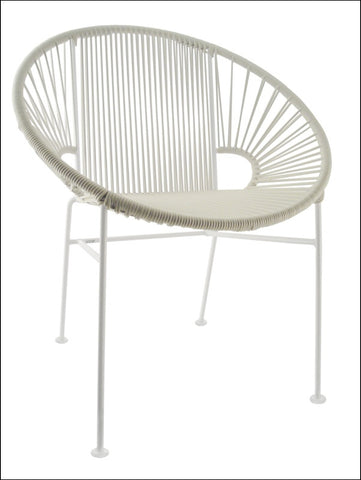 Innit Concha Chair White Frame With White Weave