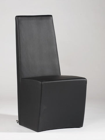 Chintaly Fully Upholstered Modern Side Chair Black Pu CYNTHIA-SC-BLK