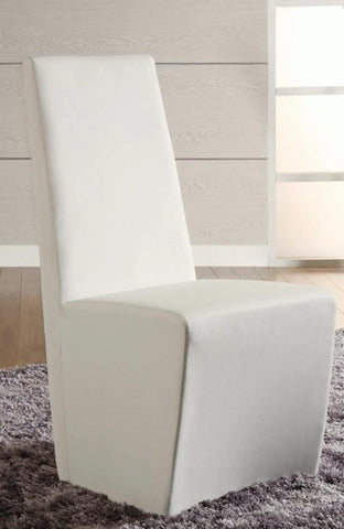 Chintaly Fully Upholstered Modern Side Chair White Pu CYNTHIA-SC-WHT