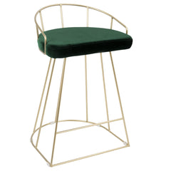 Canary Counter Stool - Gold & Green