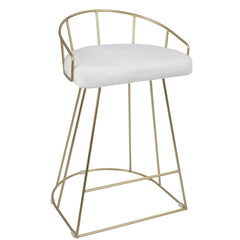 Canary Counter Stool - Gold & White