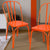 Orange Metal Chair (Set Of Two) - YourBarStoolStore + Chairs, Tables and Outdoor  - 2