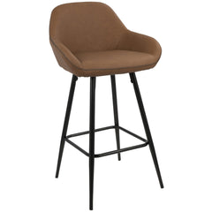 Clubhouse Counter Stool - Black & Brown PU