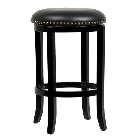 Boraam 29Inch Cordova Swivel Stool Black 33629
