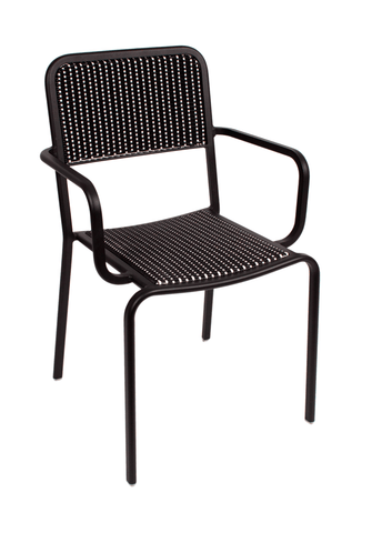 Commercial Arm Chair Rio Black