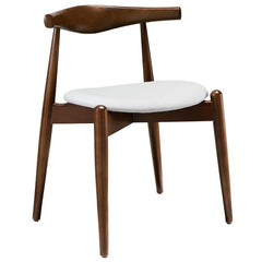 Stalwart Dining Side Chair Dark Walnut White - YourBarStoolStore + Chairs, Tables and Outdoor