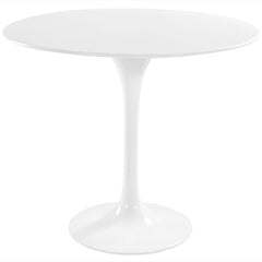 "Lippa 36"" Fiberglass Dining Table White - YourBarStoolStore + Chairs, Tables and Outdoor"