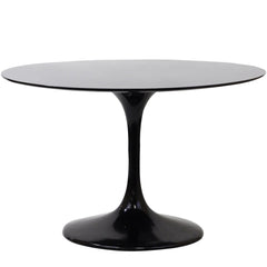 "Lippa 40"" Fiberglass Dining Table Black - YourBarStoolStore + Chairs, Tables and Outdoor"