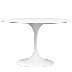 "Lippa 48"" Fiberglass Dining Table White - YourBarStoolStore + Chairs, Tables and Outdoor"