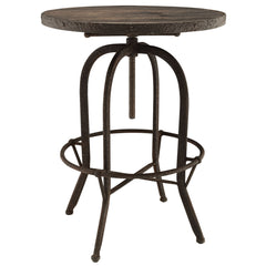 Sylvan Wood Top Bar Table Brown - YourBarStoolStore + Chairs, Tables and Outdoor