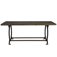 Effuse Wood Top Dining Table Brown - YourBarStoolStore + Chairs, Tables and Outdoor
