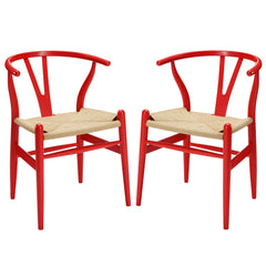 Amish Dining Armchair Set of 2 Red - YourBarStoolStore + Chairs, Tables and Outdoor