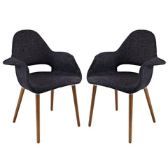 Aegis Dining Armchair Set of 2 Black - YourBarStoolStore + Chairs, Tables and Outdoor