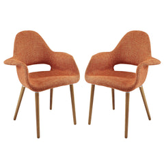 Aegis Dining Armchair Set of 2 Orange - YourBarStoolStore + Chairs, Tables and Outdoor