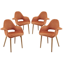 Aegis Dining Armchair Set of 4 Orange - YourBarStoolStore + Chairs, Tables and Outdoor