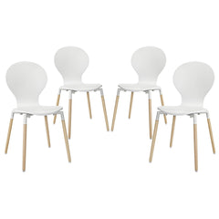Path Dining Chair Set of 4 White - YourBarStoolStore + Chairs, Tables and Outdoor