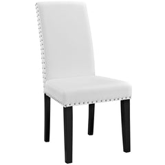 Parcel Dining Vinyl Side Chair White - YourBarStoolStore + Chairs, Tables and Outdoor