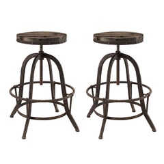 Collect Bar Stool Set of 2 Brown - YourBarStoolStore + Chairs, Tables and Outdoor