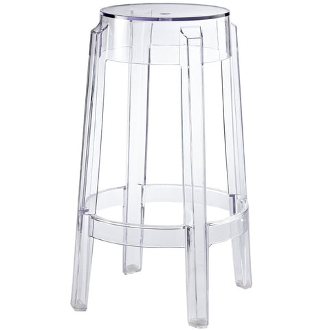 Modway EEI-171 Clear Casper Counter Stool in Clear
