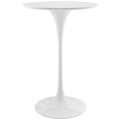 "Lippa 28"" Bar Table White - YourBarStoolStore + Chairs, Tables and Outdoor"