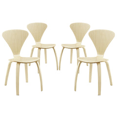 Vortex Dining Chairs Set of 4 Natural - YourBarStoolStore + Chairs, Tables and Outdoor