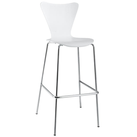 Modway EEI-538 White Ernie Bar Stool in White