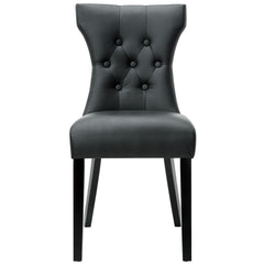 Silhouette Dining Vinyl Side Chair Black - YourBarStoolStore + Chairs, Tables and Outdoor