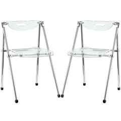 Telescope Set of 2 Dining Chairs Clear - YourBarStoolStore + Chairs, Tables and Outdoor