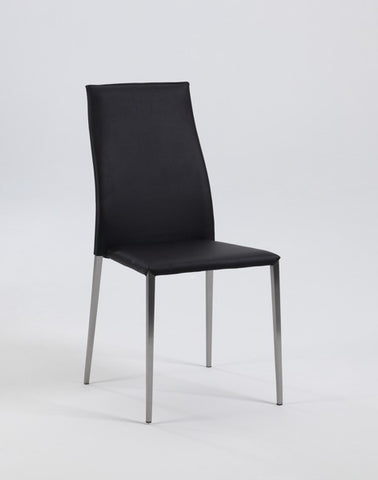 Chintaly Contour Back Stackable PU Side Chair