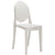 Burton Side Chair In White (Set of 2) EM-102-X2 - YourBarStoolStore + Chairs, Tables and Outdoor  - 3