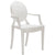 Burton Arm Chair In White (Set of 2)  EM-103-X2 - YourBarStoolStore + Chairs, Tables and Outdoor  - 3
