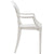 Burton Arm Chair In White (Set of 2)  EM-103-X2 - YourBarStoolStore + Chairs, Tables and Outdoor  - 2
