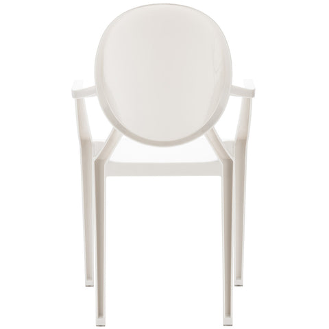 Burton Arm Chair In White (Set of 2)  EM-103-X2