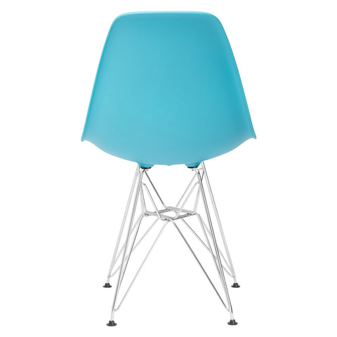 Padget Side Chair in Aqua (Set of 2) EM-104-CRM-X2