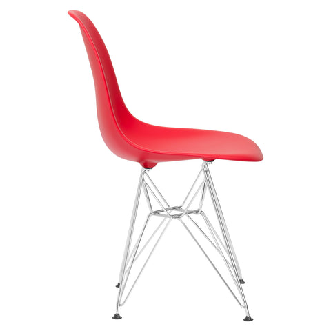 Padget Side Chair in Red (Set of 2) EM-104-CRM-X2