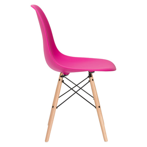 Vortex Side Chair in Fuchsia (Set of 2) EM-105-NAT-X2