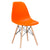 Vortex Side Chair in Orange EM-105-NAT - YourBarStoolStore + Chairs, Tables and Outdoor  - 4