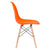 Vortex Side Chair in Orange EM-105-NAT - YourBarStoolStore + Chairs, Tables and Outdoor  - 2