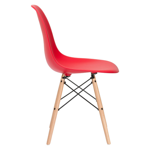 Vortex Side Chair in Red (Set of 2) EM-105-NAT-X2