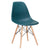 Vortex Side Chair in Teal (Set of 2) EM-105-NAT-X2 - YourBarStoolStore + Chairs, Tables and Outdoor  - 4