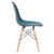 Vortex Side Chair in Teal (Set of 2) EM-105-NAT-X2 - YourBarStoolStore + Chairs, Tables and Outdoor  - 2