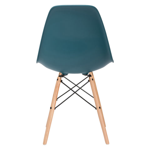 Vortex Side Chair in Teal EM-105-NAT