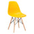 Vortex Side Chair in Yellow EM-105-NAT - YourBarStoolStore + Chairs, Tables and Outdoor  - 4