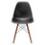 Vortex Side Chair Walnut Legs in Black (Set of 2) EM-105-WAL-X2 - YourBarStoolStore + Chairs, Tables and Outdoor  - 3